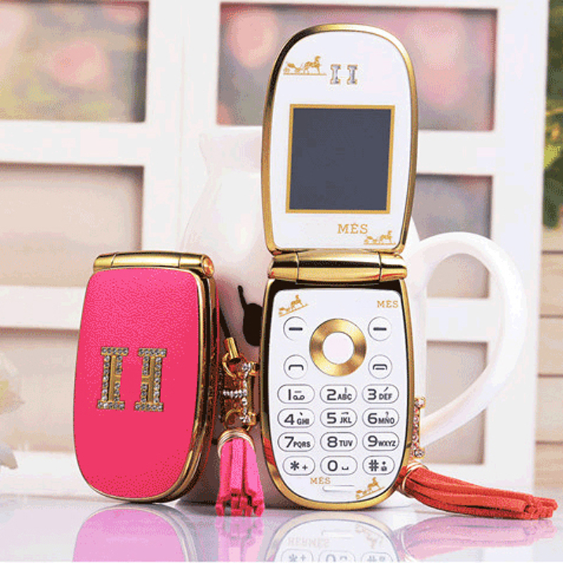 Arabic Russian Portuguese Flip lovely unlocked small women kids girls cute Vibration mini cell mobile phone cellphone W16 P513(China (Mainland))