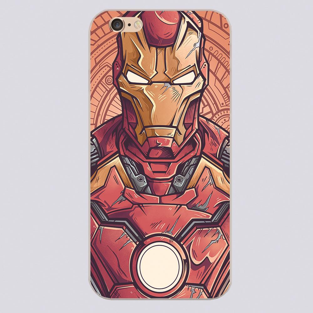 marvel ironman Design case cover cell phone cases iphone 4 4s 5 5c 5s 6 6s 6plus hard shell - hungryfu store