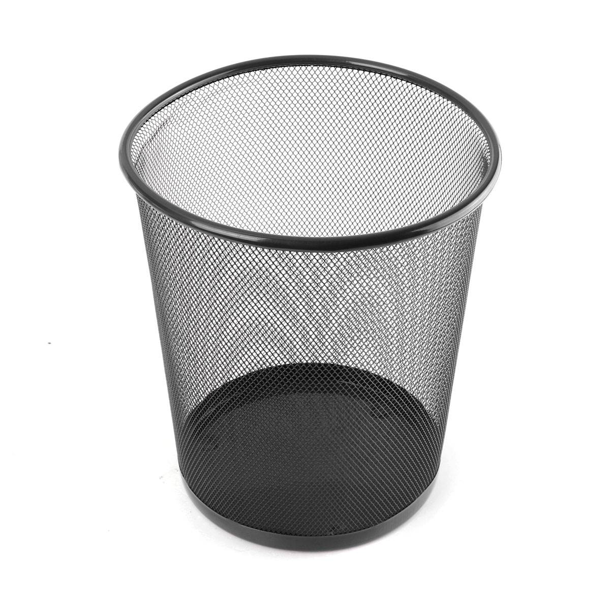 New Premier Colourful Metal Mesh Waste Paper Basket Bedroom Office Rubbish Bin 6Colors(China (Mainland))