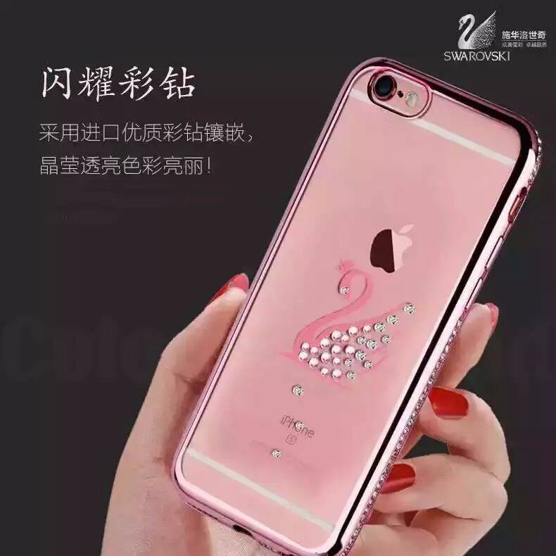 Luxurious Crystal Clear Swarovski diamond Case for iPhone 6 6S 4.7 inch Soft TPU Case