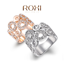ROXI Christmas Gift Classic Luxury Rings Top Quality Genuine SWR crystal, romantic hand made fashion jewelry,2010017420(China (Mainland))