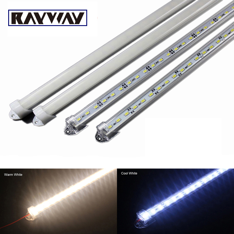 5pcs*50cm Factory Wholesale 50CM DC 12V 36 SMD 5630 LED Hard Rigid LED Strip Bar Light with U Aluminium shell +pc cover(China (Mainland))