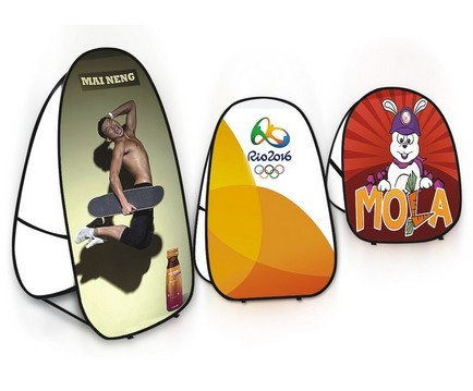 Folding Pop Up Banner Stand With Printing - L size Free shipping to Australia and New Zealand(China (Mainland))