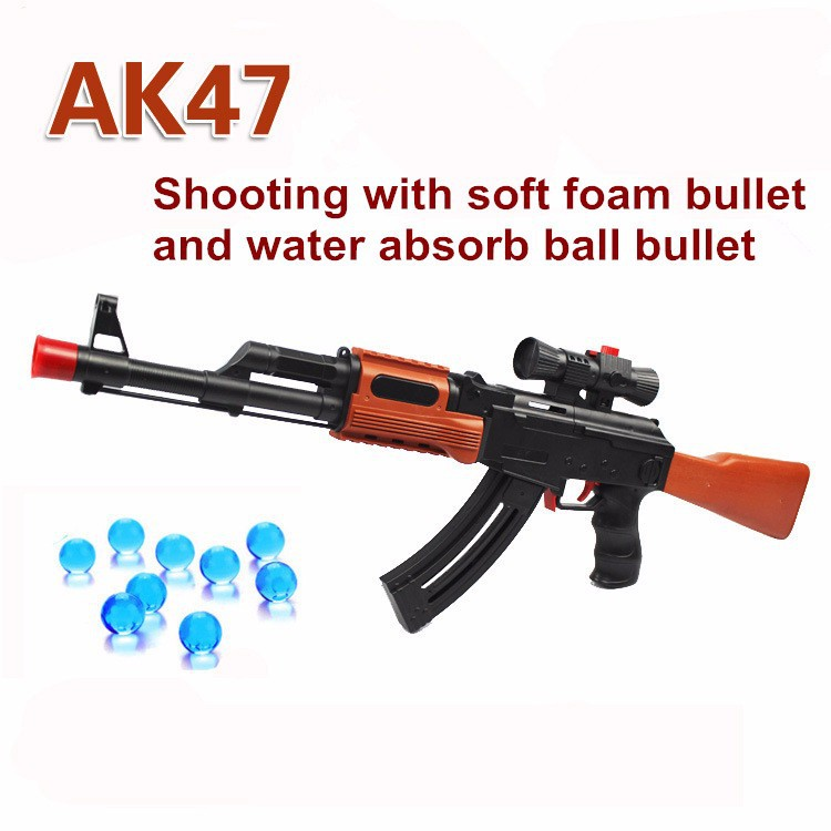 Paintball AK 47 pistola de Juguete Pistola de Bala Suave Bala arma de la Pistola de Agua Pistola de Agua de juguete Orbeez Cristal De Bala Boy Regalo Para Los Niños(China (Mainland))