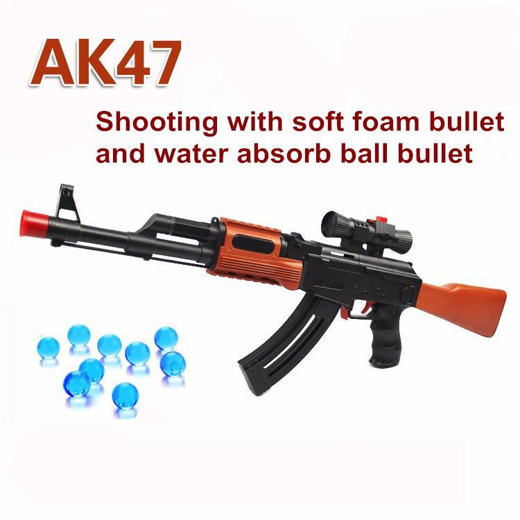 AK 47 Toy Gun Soft Bullet Paintball Water Bullet Pistol Gun Toy Orbeez Water Gun Crystal Bullet Airgun Boy Gift For Children(China (Mainland))