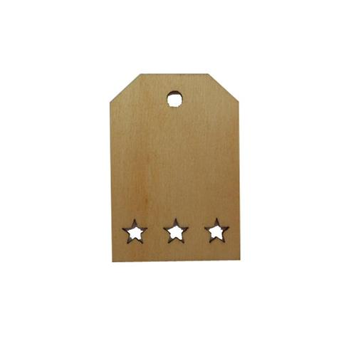 Tag Shape Wood Shapes with Stars at the Bottom XHWS008 Small Wooden Tags Decorations Hemp Rope DIY Craft(China (Mainland))