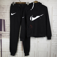 hoodies sweatshirt 2 piece tracksuit set for autumn Winter women sport hoodie jogging suit femme harajuku cotton pant Pullovers(China (Mainland))