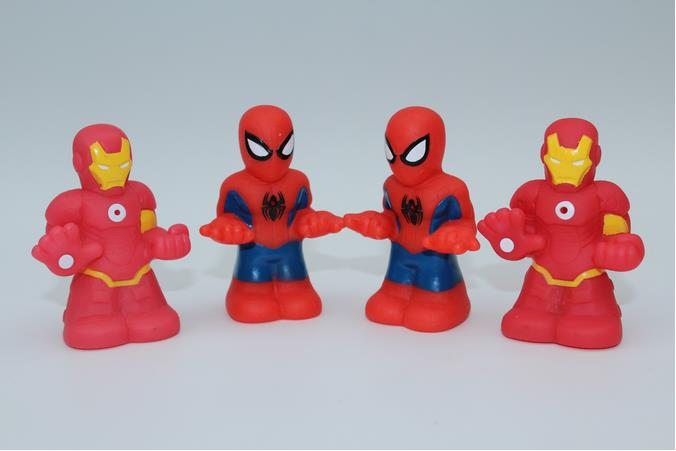 10PCS/lot anime action figure toys, spider man,iron man, boys toy collectibles,randomly sending(China (Mainland))