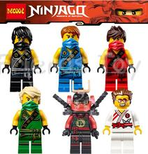 6pcs NINJAGO Minifigures Cole Kai Jay Lloyd Nya Zane Craffin Turner Building Bricks  Blocks Figures Toys Compatible With Lego (China (Mainland))