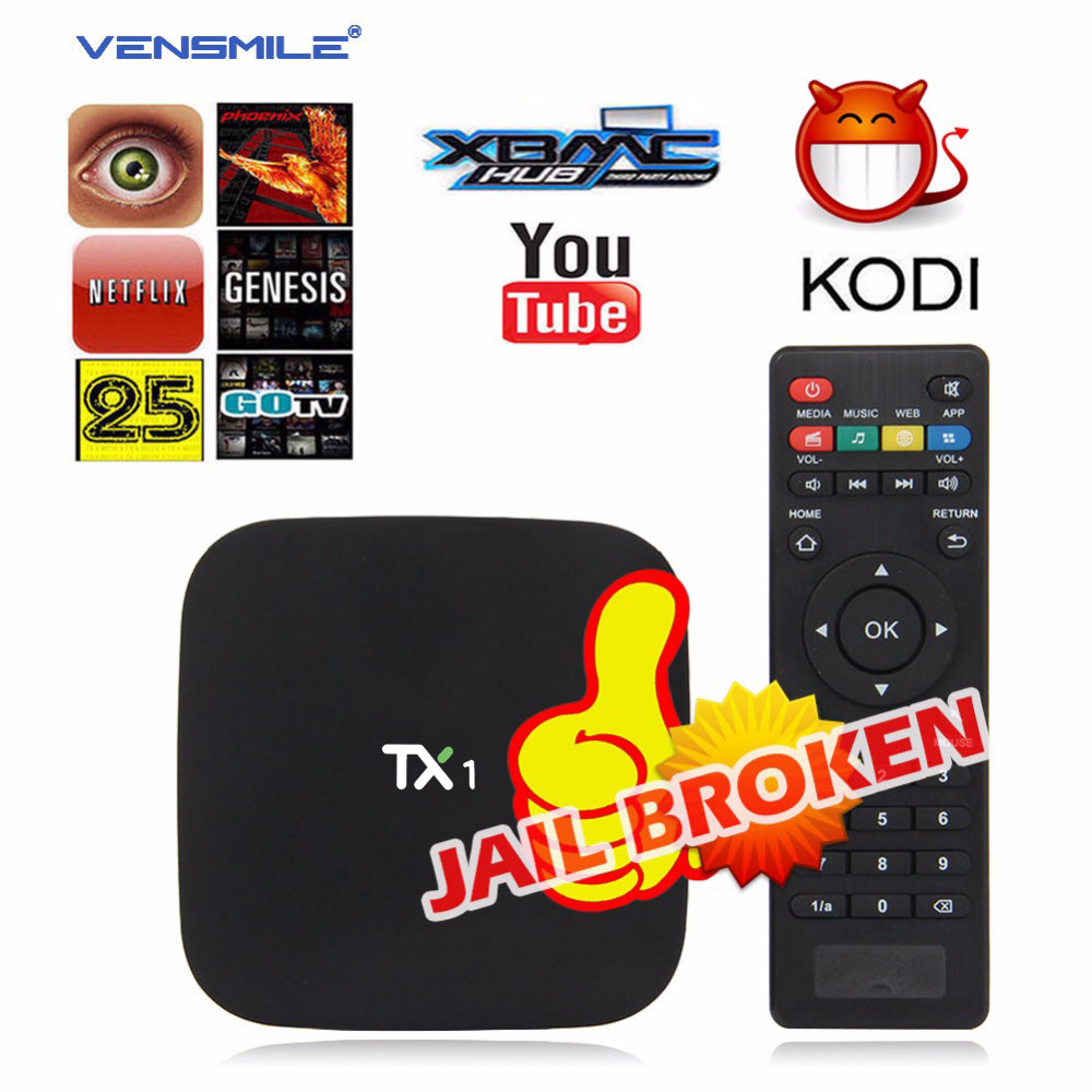 Vensmile TX1 Android tv box Amlogic S805 Quad Core Android 4.4 1G+8G Support KODI Miracast DLNA Media Player Bluetooth Wifi(China (Mainland))