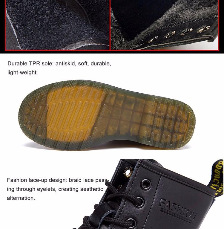 ซื้อ ขนาดใหญ่10 ~ 13จริงหนังมาร์ตินผู้ชายรองเท้าผู้หญิงหิมะรองเท้าทหารสาวสำหรับรองเท้าที่เดินสบายๆฤดูหนาวF Emme Bota 2016