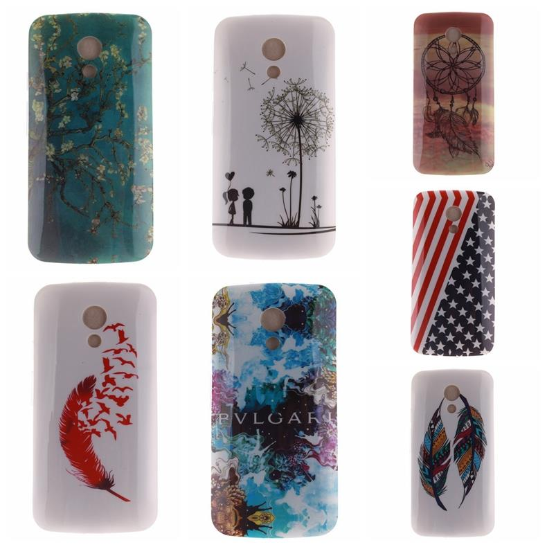 For Motorola Moto G2 XT1068 XT1069 Cloud Feather UK Big Ben USA Flag Art Owl Pattern Soft TPU Cell Phone Case Cover(China (Mainland))