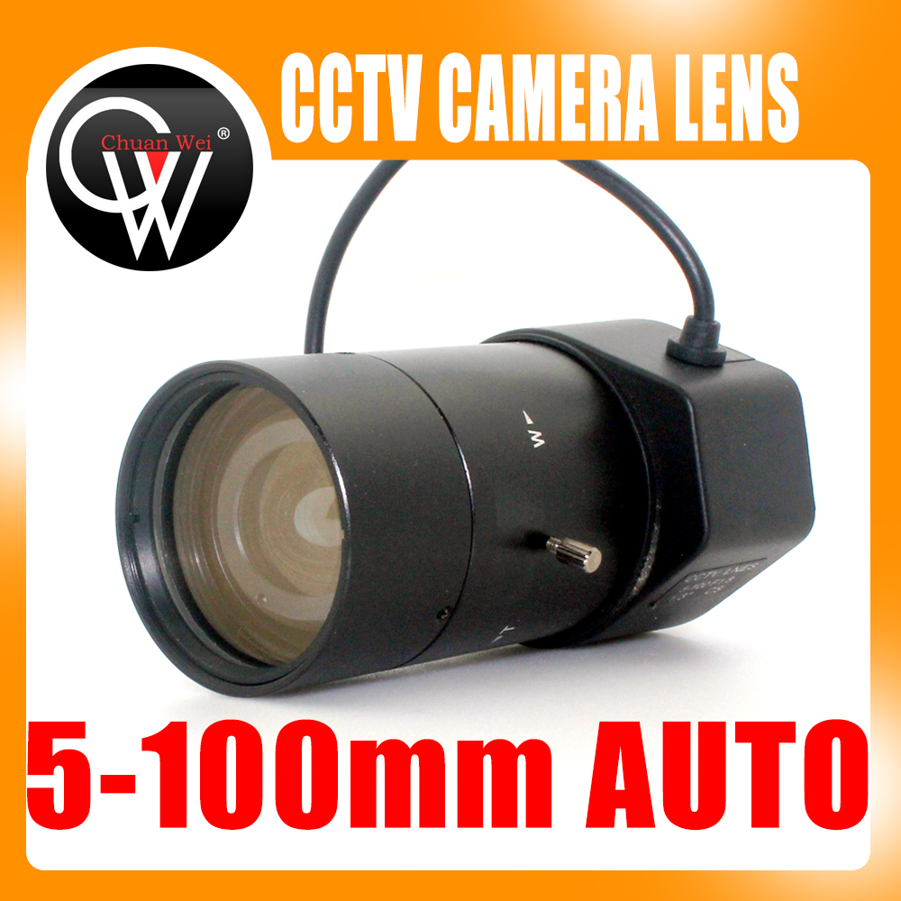 "New 5-100mm CS F1.8 Lens 1/3"" Varifocal Auto Iris zoom lens for Security CCTV Camera(China (Mainland))"