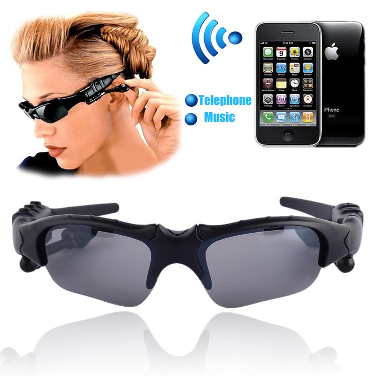 Headset Music Handsfree Sports Stereo Wireless Bluetooth Headset Telephone Polarized Driving Sunglasses/mp3 Riding Eyes Glasses(China (Mainland))