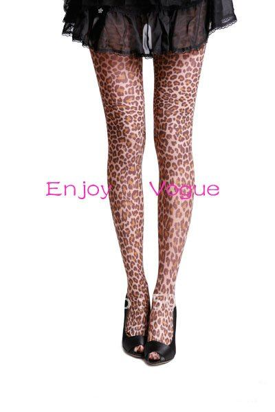 Wholesale 2013 classic style fashion new designer leopard print spandex&nylon opaque tights for women(China (Mainland))