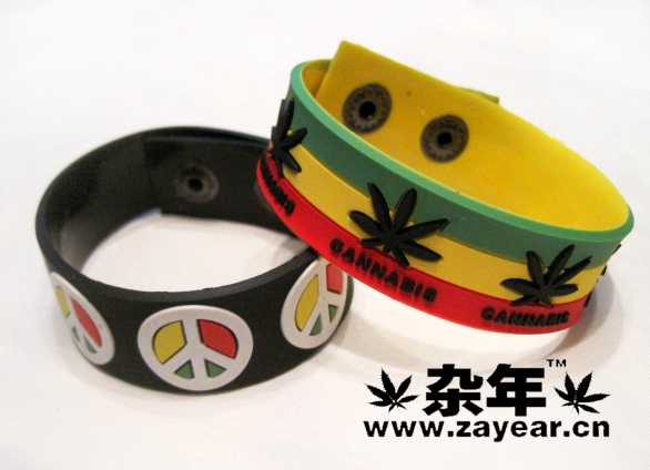 Reggae rasta red yellow green skateboard street silica gel wrist length belt hand ring strap