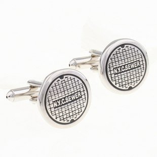 Free shipping new arrival stainless steel cufflink factory supply mix cufflinks wholesale manhole cover(China (Mainland))
