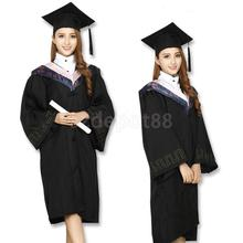 Black Mortar Board Adults Graduation Hat Cap Dress Accessory For Student(China (Mainland))