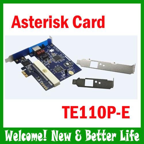 3pcs/lot TE110P-e E1 card T1 card J1 card ISDN PRI card support SS7 voip ippbx call center trixbox elastix(China (Mainland))