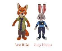 2016 New Movie 30cm Zootopia rabbit Judy Hopps Nick Wilde police women cute Plush soft doll For Kids Toys