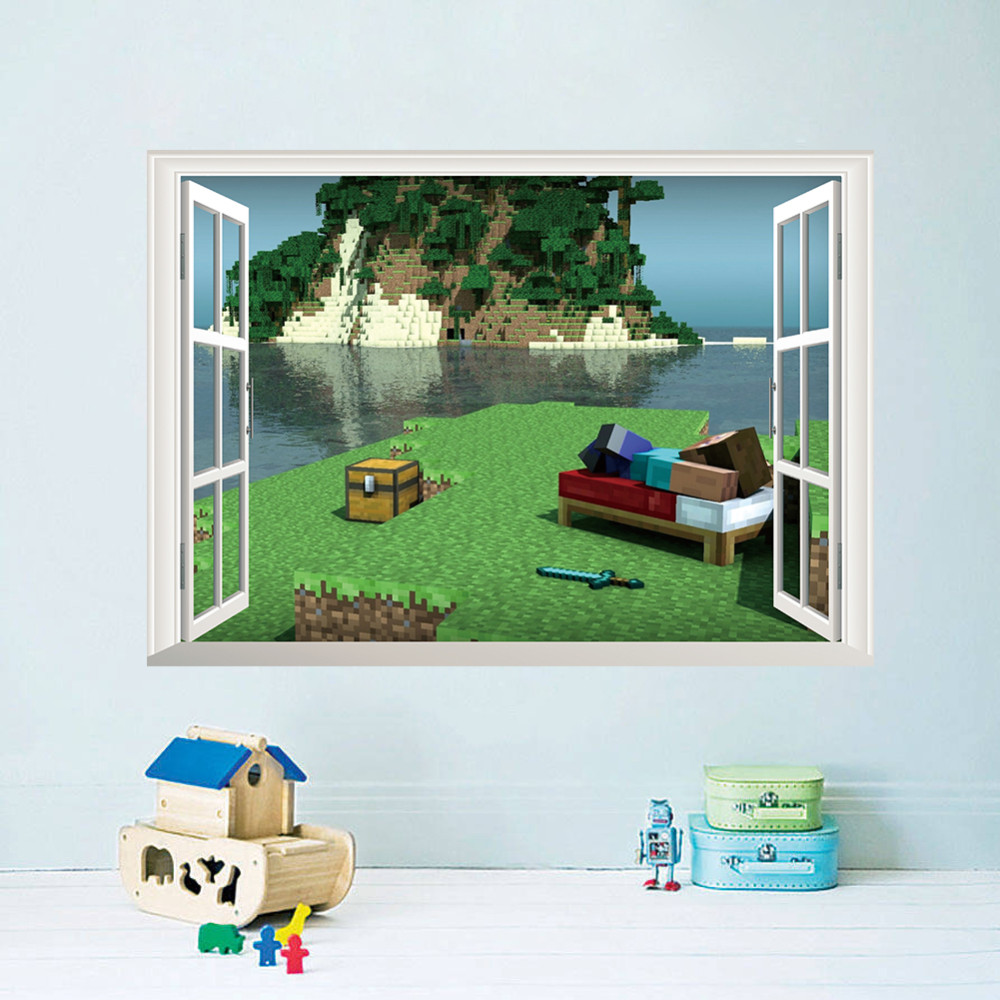 Free shipping 3D Cartoon DIY Wall Sticker For Kids Rooms Sofa Bedroom Living room Wallpaper decoration Art Decals poster MC004(China (Mainland))