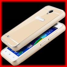 Luxury Metal Case Aluminum Frame & Plastic Acrylic Back Cover Set Phone Cases for Lenovo A3600 A3600D A3800 A3800D