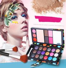 18 color liquid eye shadows + 2 blush + pressed powder + 3 Lip frozen + 2 Eyebrow Professional Makeup Sets naked Eyeshadow 622