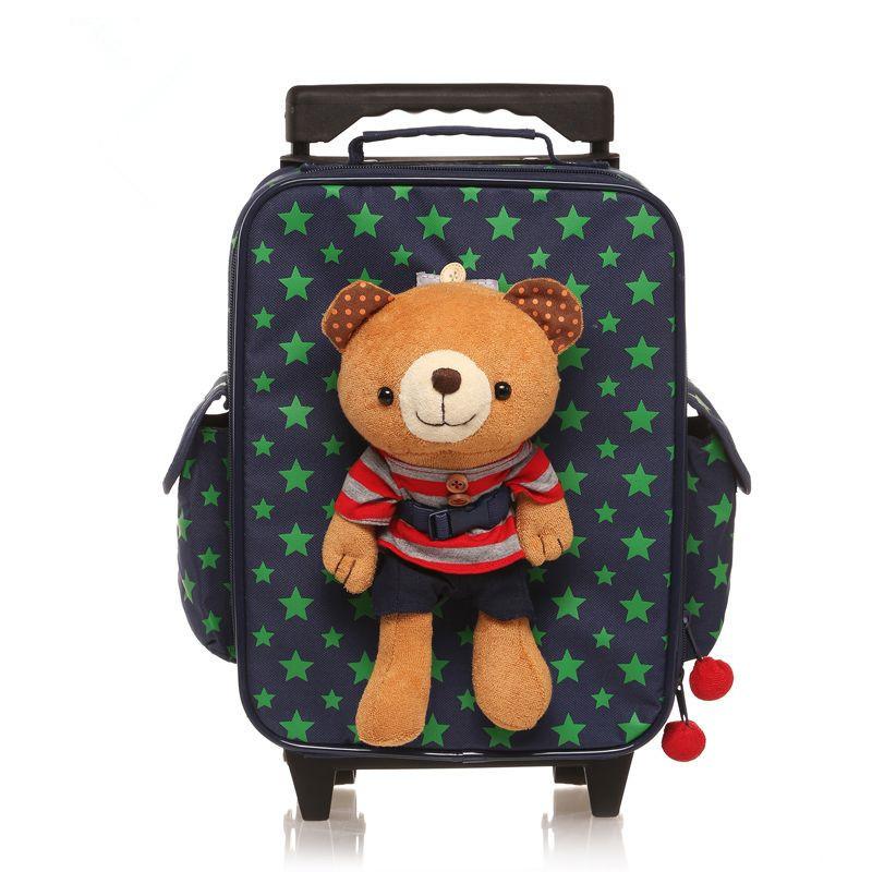 Children school bags backpack child bolsas mochila infantil Bo Wen bear schoolbag kindergarten trolley kid bag &88158