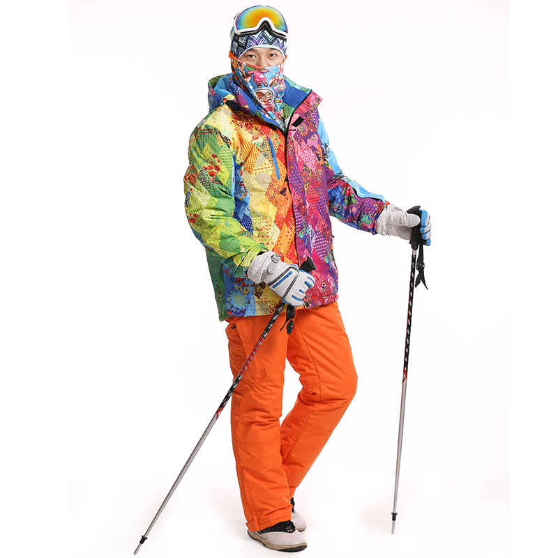 Ski Set For Men High Quality Pants+Jackets Snowboard Winter Hiking Jacket Keep Warm Snow Trousers Pants Outdoor Sport Skiing Set