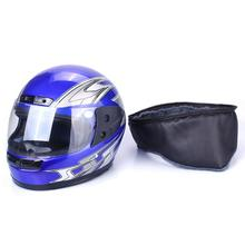 CARCHET Vintage Motorcycle Helmet Blue Color Full Face Helmets Adjustable Size 55cm-60cm Casco de la moto Motocross - Top Store ACE store