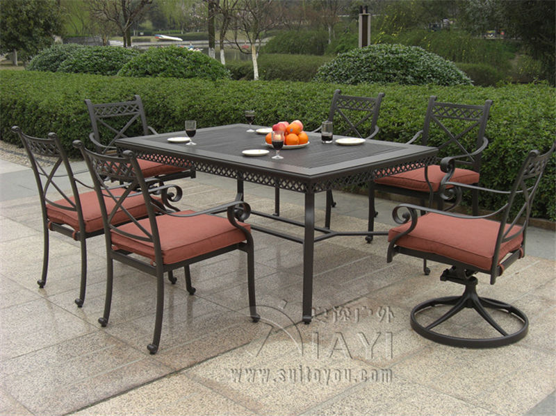 Buy 7 Piece Cast Aluminum Patio Furniture