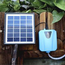 Solar Powered/DC Charging Oxygenator Water Oxygen Pump Pond Aerator with 1 Air Stone Aquarium Airpump 2L/min(China (Mainland))