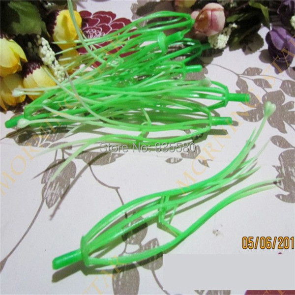 Wholesale 12cm big size 2 colors selected Lily stamen DIY nylon flower materials lily core ( 100pcs/lot $8.4)(China (Mainland))