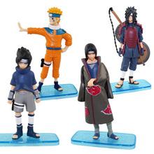 Naruto figures 4pcs new NARUTO Shippuuden Japan Cartoon & Anime #A Uchiha Itachi Sasuke Madara