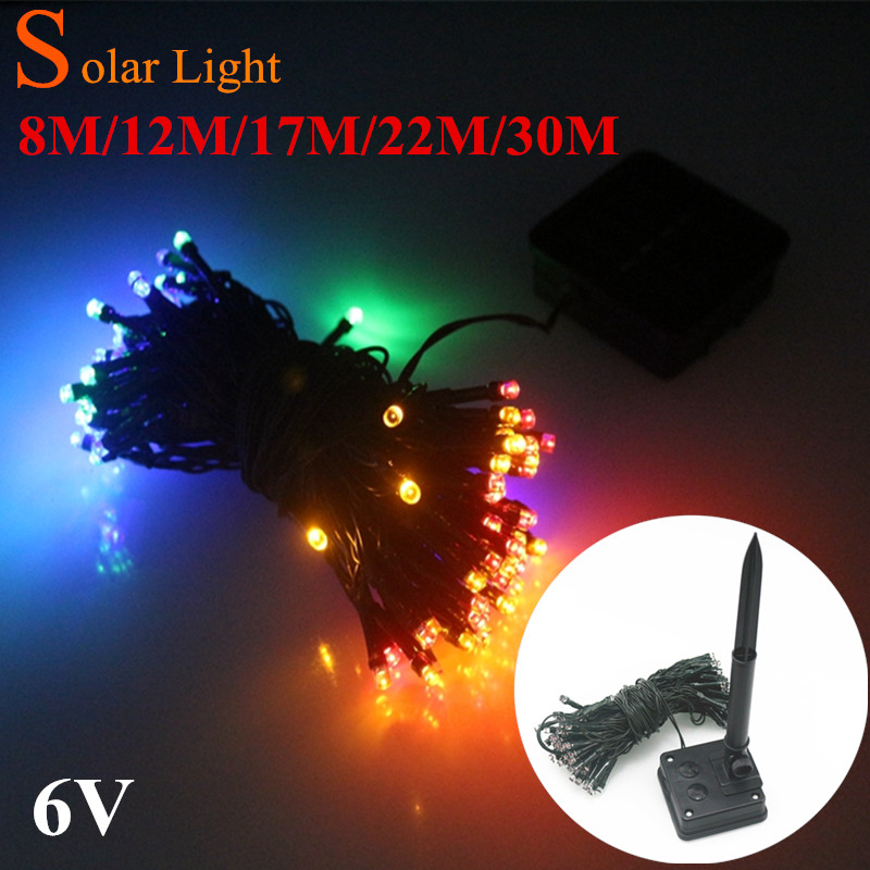 Solar Lamp string LEDChristmasLights 6V 8M 22M 30M Fairy String Lights Led Outdoor Lighting 3ModesWaterproof ForGardenLightStrip(China (Mainland))