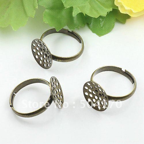 200pcs/lot 19mm(14mm Setting) Antique Brass Hollow Cameo Cab Ring Settings Jewelry Finding Lead/Nickel Free Free Shipping LQJ009<br><br>Aliexpress