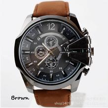 Relojes hombres DZ de marcas de lujo OVERSIZE correa de cuero Dial moda casual relojes hombres relojes del cuarzo de japón venta al por mayor