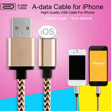 1M Luxury Metal Braided Mobile Phone Cables Charging USB Cable Charger Data For iPhone 5 5S 6S 6 6 plus IOS Data accessories