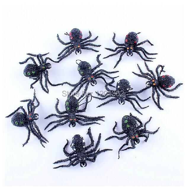 Realistic Fake Rubber Spider Gag Gift Prank Practical Joke Funny Toy April Fool's Day NEW 10*5.5CM(China (Mainland))
