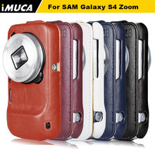 Case for Samsung Galaxy S4 Zoom C101 C1010 PU leather Case Flip Cover Pouch iMUCA Mobile Phone Bags & Cases W/ Retail Box(China (Mainland))