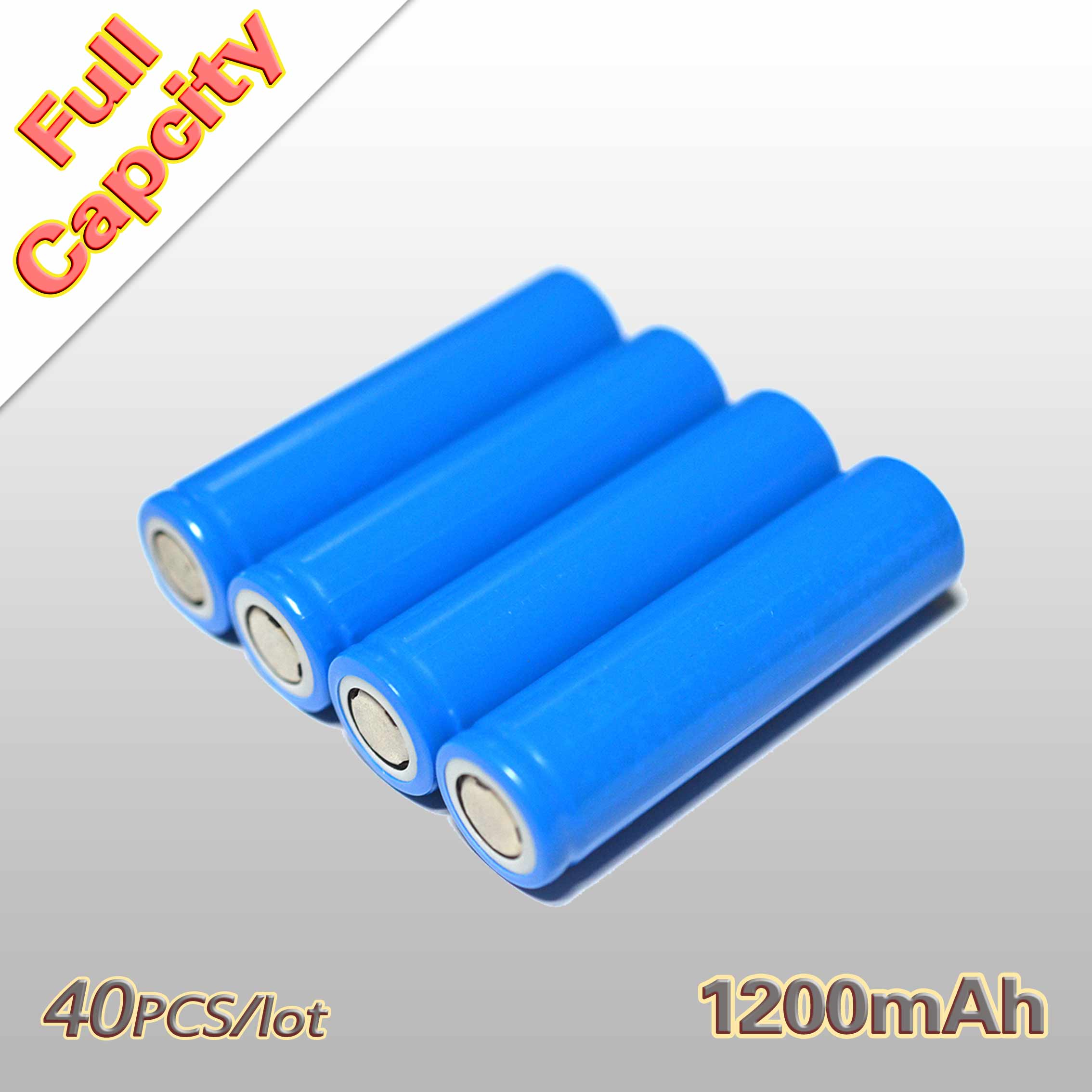 40PCS 3.7V Real capacity: 1200mAh Rechargeable Battery 18650 Wholesale for the assembly mobile power notebook batteries etc.<br><br>Aliexpress