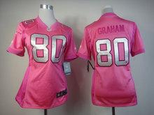 100% stitched women pink love New Orleans Saints ladies 9 Drew Brees 80 Jimmy Graham 10 Brandin Cooks 43 Darren Sproles(China (Mainland))