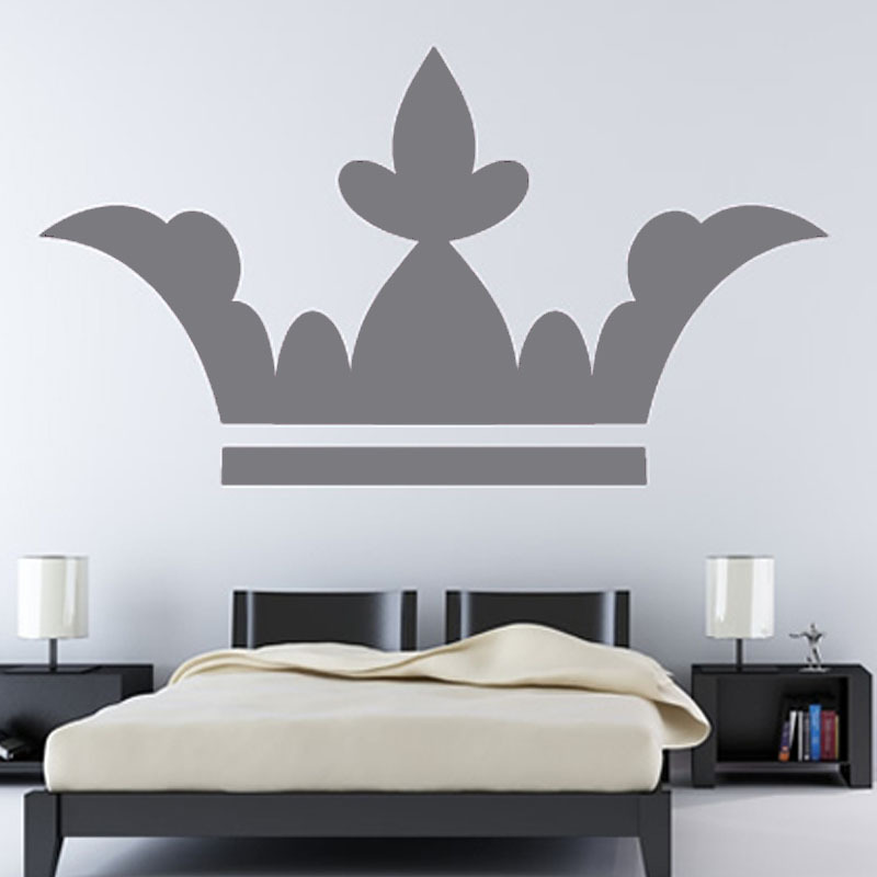 Europe Hot Sale Wall Decor Accessories Vinyl Removable Leaf Style Crown Wall Sticker Priness Bedroom Decoration(China (Mainland))