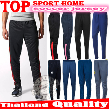 Thai Quality NEW Soccer Pants Real madrid chelsea AC milan Slim Skinny sports Football training running pants tracksuit pants(China (Mainland))