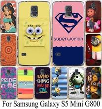 S5 мини-мягкий тпу чехол для Samsung Galaxy S5 G800 чехол прохладно мультфильм тв гадкий я миньоны жесткий мобильный телефон
