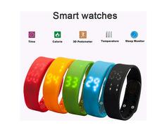 10Pcs/Lot DHL Free Shipping Multifunctional LED 3D Smart Bracelet USB Smart Bracelet Watch  Calorie Bracelet