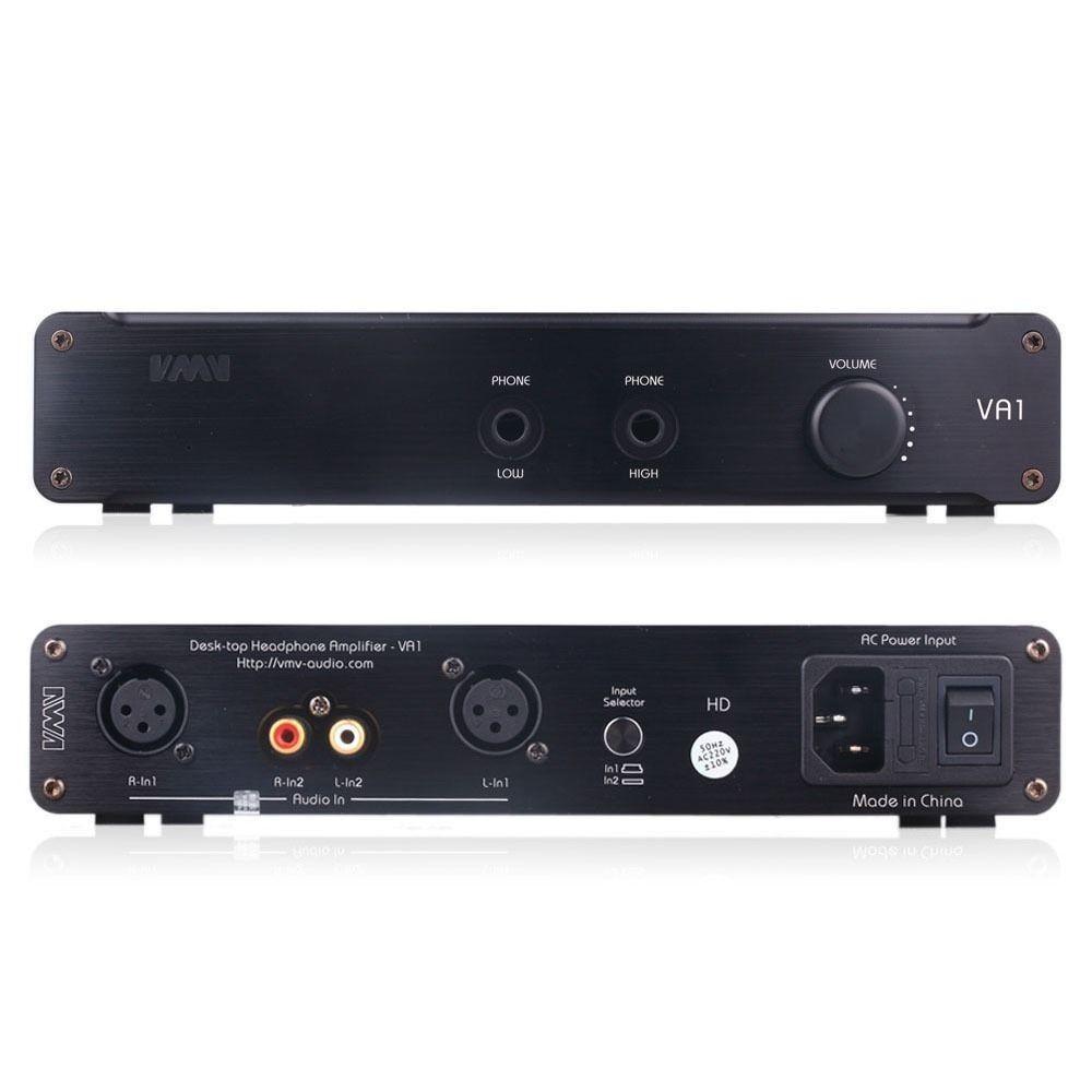 SMSL VA1 HD Headphone Amplifier Power AMP Desktop Audio HiFi Bass Stereo Black color(China (Mainland))