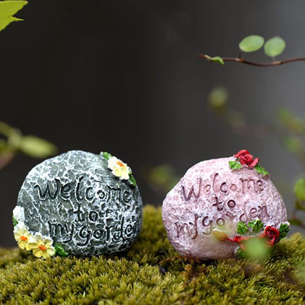 5pcs mini totoro pot rockery small stone miniatures fairy garden moss terrarium decoration resin for Decoration jardin pot
