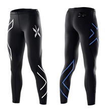 Europe's big 2XU compression woman jogging pants tight stretch pants quick-drying breathable outdoor sports fitness pants(China (Mainland))