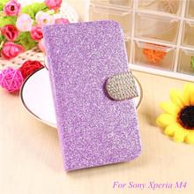 Buy Fashion Bling Glitter Flip Case Cover Sony Xperia M4 Aqua Dual E2303 E2333 E2353 Mobile Phone Case Card Slot for $3.14 in AliExpress store